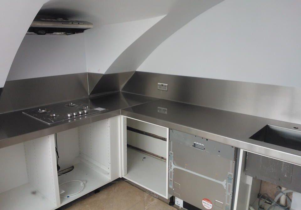 Stainless Steel Kitchen Worktop Richmond